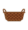 simple straw basket vector image