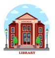 Public lending or academic national library vector image