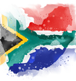 map of south africa Watercolor paint vector image