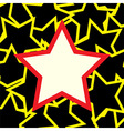 White and red star over stars background vector image