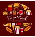Fast food menu card design element vector image vector image