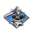 Sledgehammer Striking 45lb Weight Anvil Retro vector image