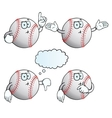 Thinking baseball set vector image vector image