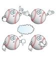 Thinking baseball set vector image