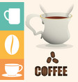 coffee cup poster cup beverage vector image