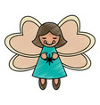 colorful crayon silhouette of decorative angel vector image
