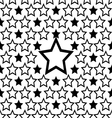 seamless star pattern design background vector image vector image