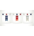 Ribbons set in the traditional colors of USA flag vector image