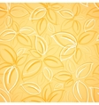 seamless background with yellow leaves vector image