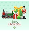 Christmas Vintage Toys Set vector image