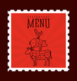 butchery menu vector image