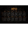 new years calendar 2012 vector image