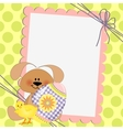 Cute template for Easter postcard vector image vector image