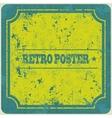 Abstract grunge vintage frame background vector image