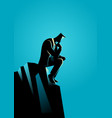 businessman thinking for solution vector image