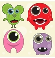 Cute monster set vector image