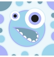 Fun scared cartoon monster vector image