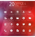 Office 1 icons on blurred background vector image