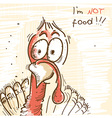 Thanksgiving turkey bird protest vector image