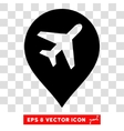 Airport Marker Eps Icon vector image