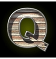 wooden cutted figure q vector image vector image