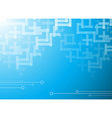 Abstract blue hi-tech background vector image