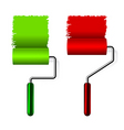 paint roller brush vector image vector image