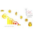Euro coins falling vector image