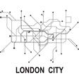 London subway map vector image