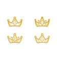 golden crown symbols vector image vector image
