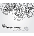 floral invitation vector image