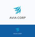 Avia corporation A letter logo vector image