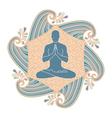 summer yoga vector image vector image