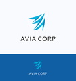 Avia corporation A letter logo vector image
