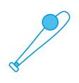 baseball bat symbol vector image