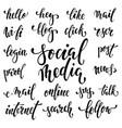 big set of handwritten words symbolizing social vector image