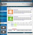 Blue web design elements set vector image