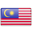 Flags Malaysia in the form of a magnet on vector image