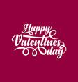 happy valentines day text vector image