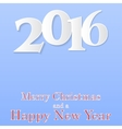 Merry christmas and a happy new year 2016 vector image