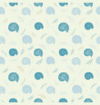 Seamless background with sea shells in sketch vector image
