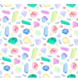 seamless pattern with diamonds and jewelry vector image