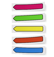Set of color self-adhesive bookmarks sticker notes vector image