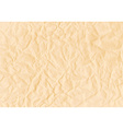 Texture of crumpled horizontal sepia paper vector image