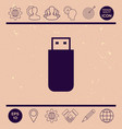 usb flash memory drive icon vector image