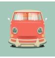 Minibus cartoon colorful vector image vector image