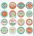 retro vintage design quality badges collection 3 vector image