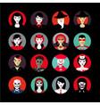 people in maskshalloween avatar set flat style vector image