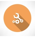 wrenches and nut icon vector image vector image