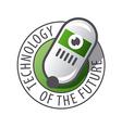 Round logo Robot Technology vector image vector image